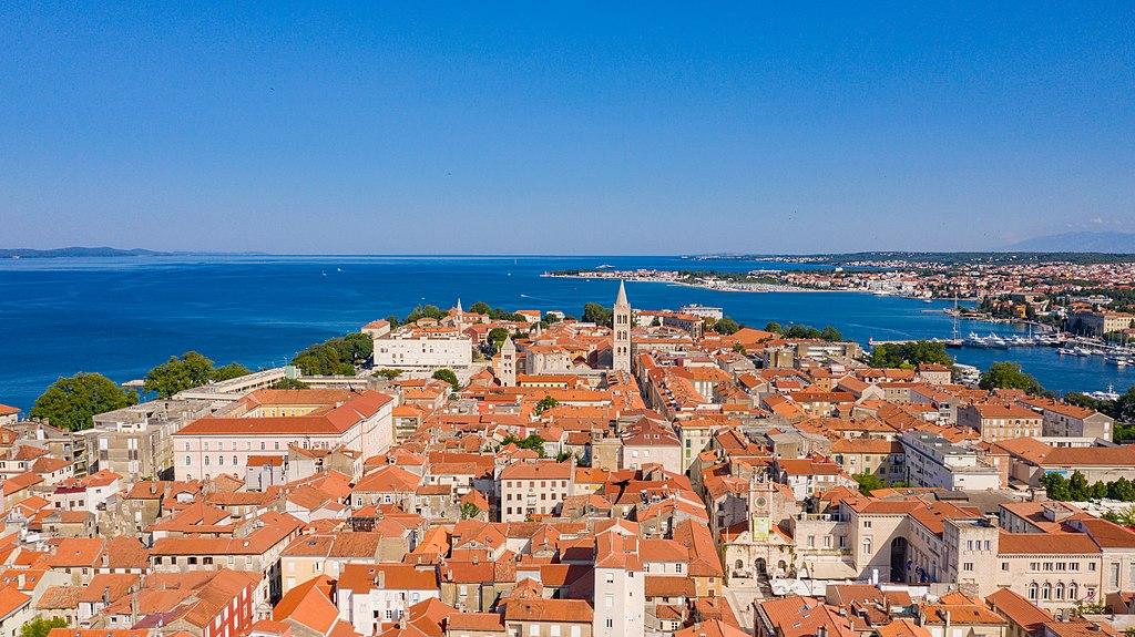 Udsigt over Zadar i Kroatien